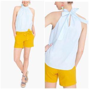J. Crew Factory Sleeveless Tie-Neck Top Size 12